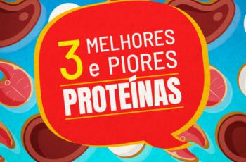 AS 3 MELHORES E PIORES FONTES DE PROTEÍNAS (ALIMENTOS)