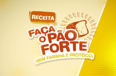 RECEITA DO PÃO FORTE | Pão Sem Farinha, Protéico e Nutritivo