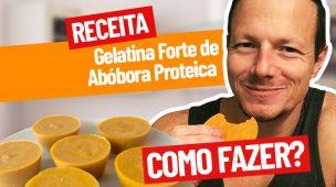 Receita da gelatina forte de abobora proteica