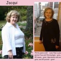 Antes e depois de uma dieta sem glúten